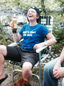 This is what a real Bro-dyke looks like...(yeah, that's me, bro-ing out many many years ago...)